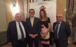 Başkan KÜLAHÇIOĞLU ve Başkan Yardımcısı ÖZGÜÇLÜ Türk delegasyonunu temsilen Moskova 'daki İtalyan Büyükelçiliği evsahipliğinde düzenlenen resepsiyona katıldılar.