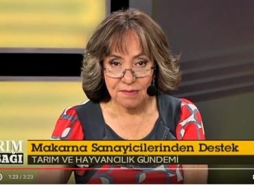 Abdülkadir KÜLAHÇIOĞLU Yaban TV'de Tarım Kuşağı programında usta gazeteci Meliha OKUR'un gündeme ve makarna sektörüne dair sorularını yanıtladı.